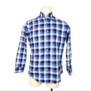 Buttoned Down Men's Blue Plaid Fitted Button Down